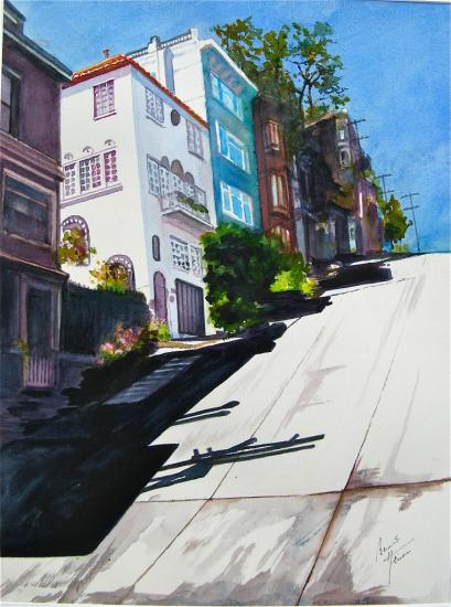 Maison bleue à San Francisco
