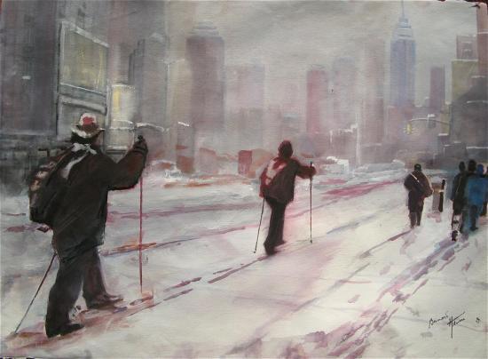 Neige sur Manhattan