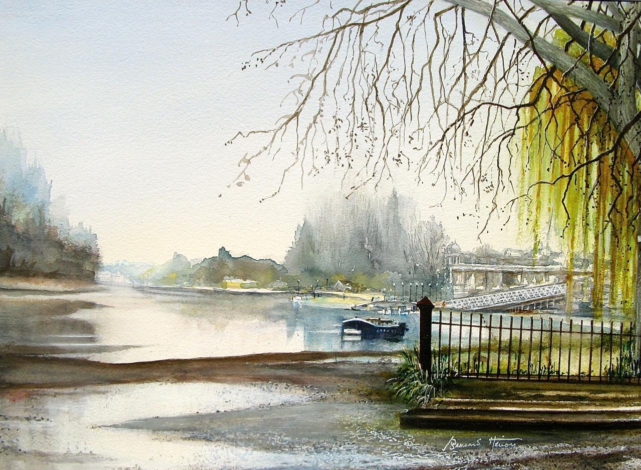 La Tamise à Eyot Gardens (Londres)