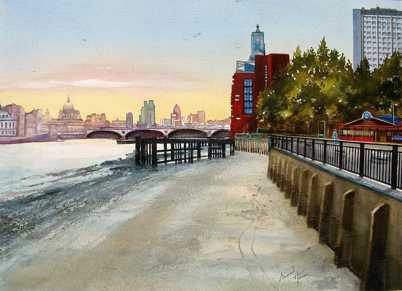 La Tamise à marée basse - Londres