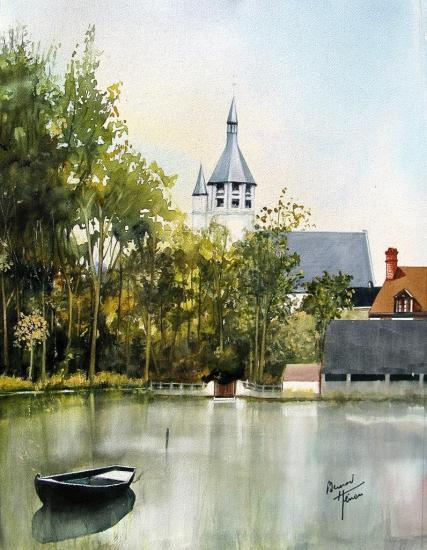 Le clocher de St Hilaire à Combray