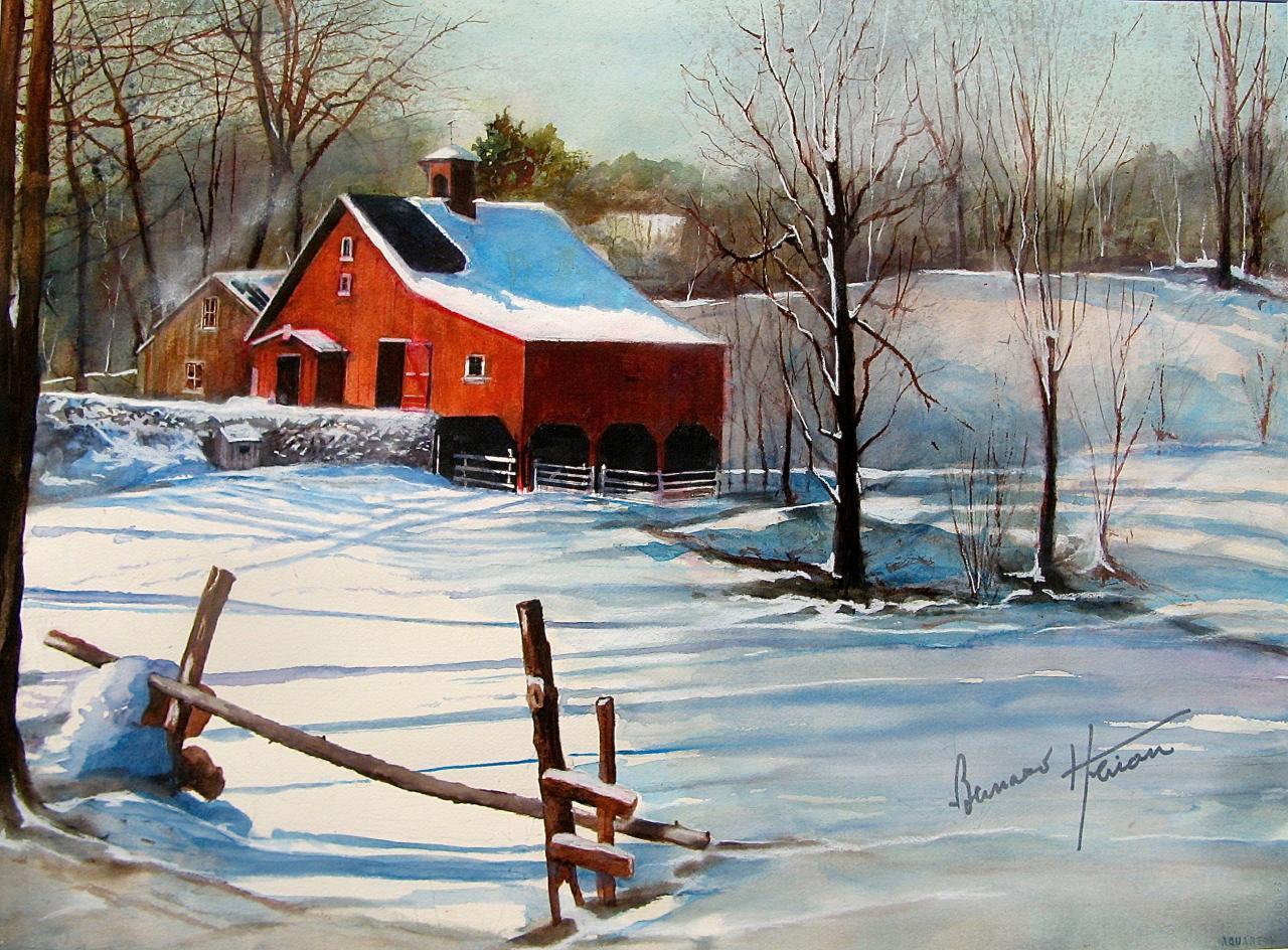 Neige sur le Vermont (USA)