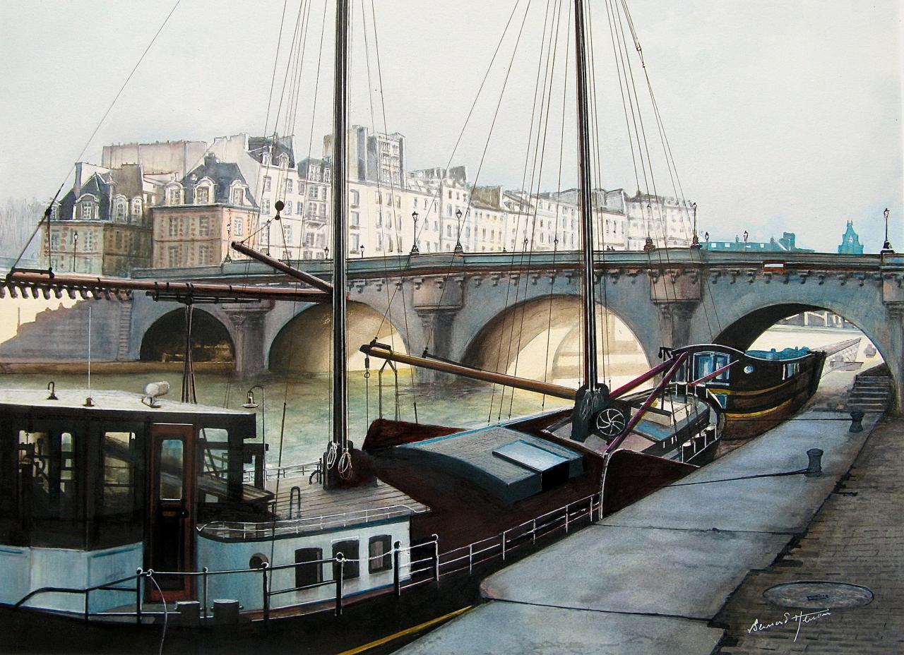 Paris - La Marie-Jeanne - Quai Conti