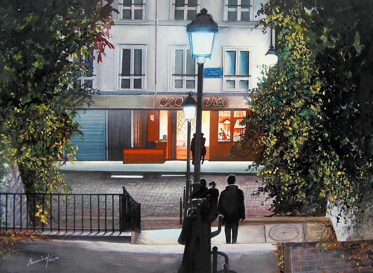 Paris - A Montmartre le soir