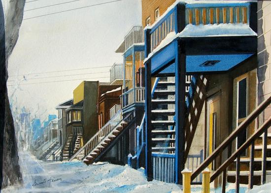Montréal - les escaliers