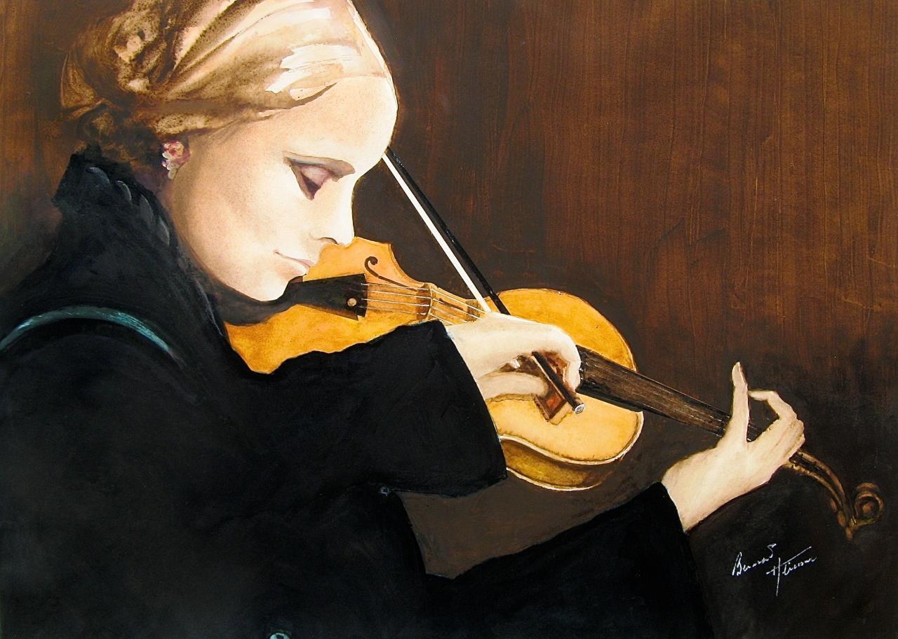 Femme au violon