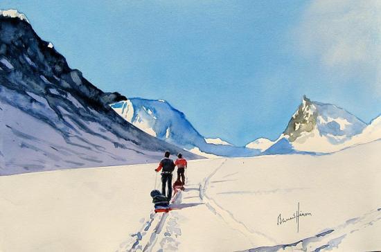 Raid à ski en terre Lapone