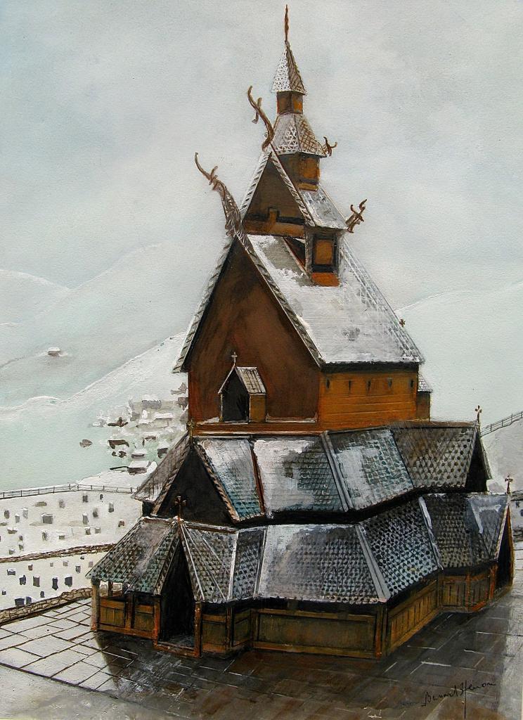 Norvège - L'Eglise en bois debout de Borgund