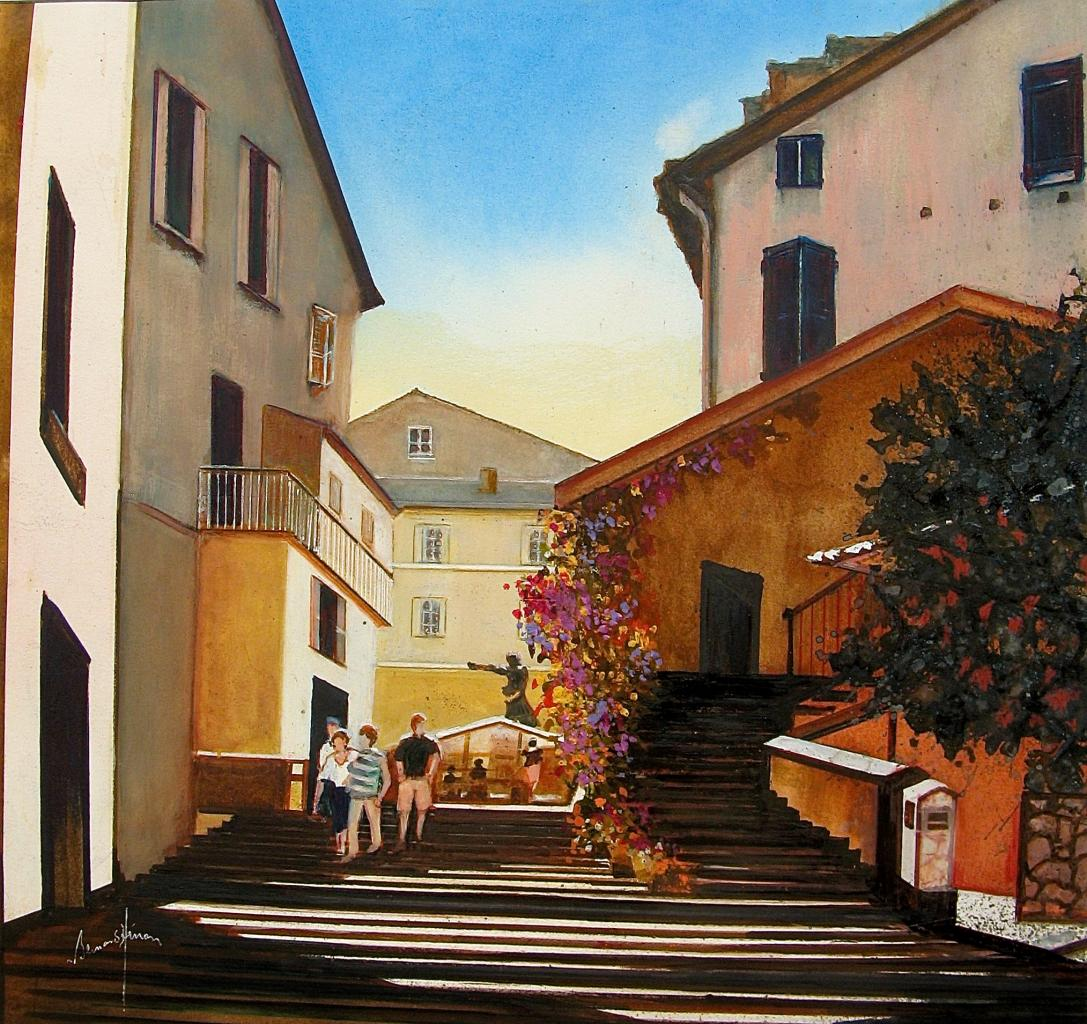 Corse - La Place Gaffory de Corté