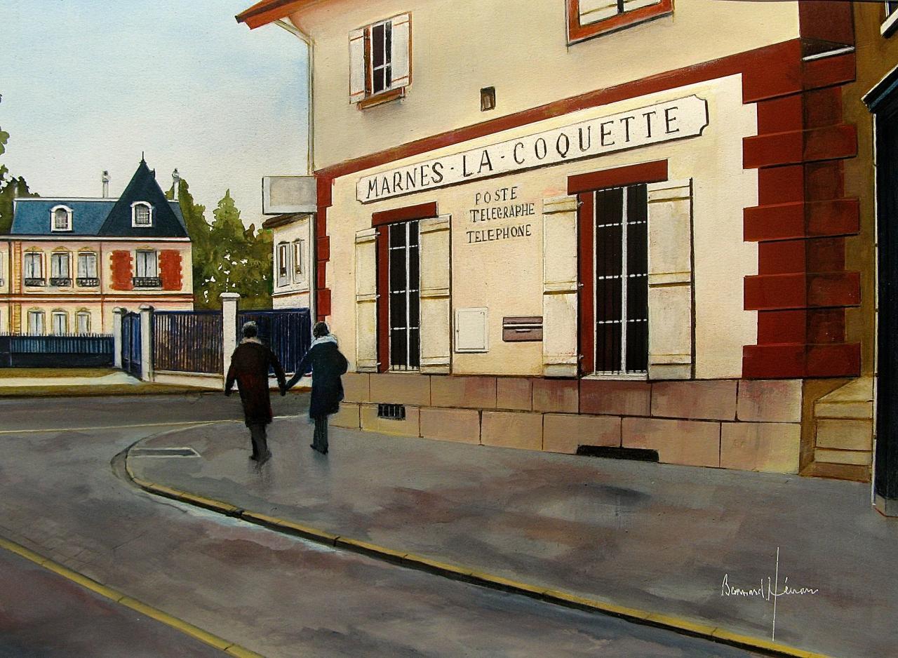 Marnes la Coquette - Le bureau de Poste