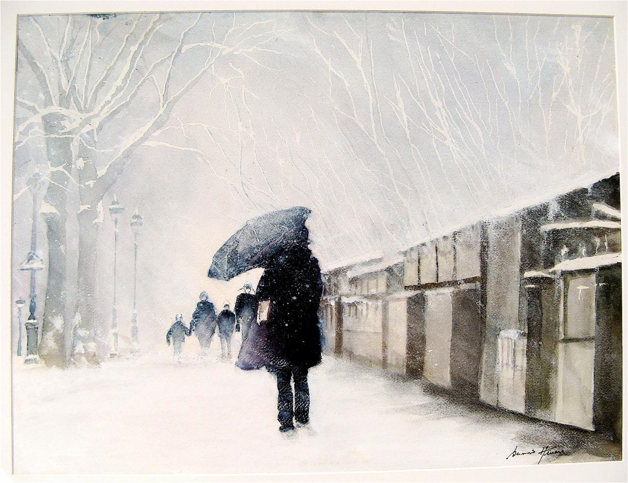 Neige sur les Quais des Bouquinistes