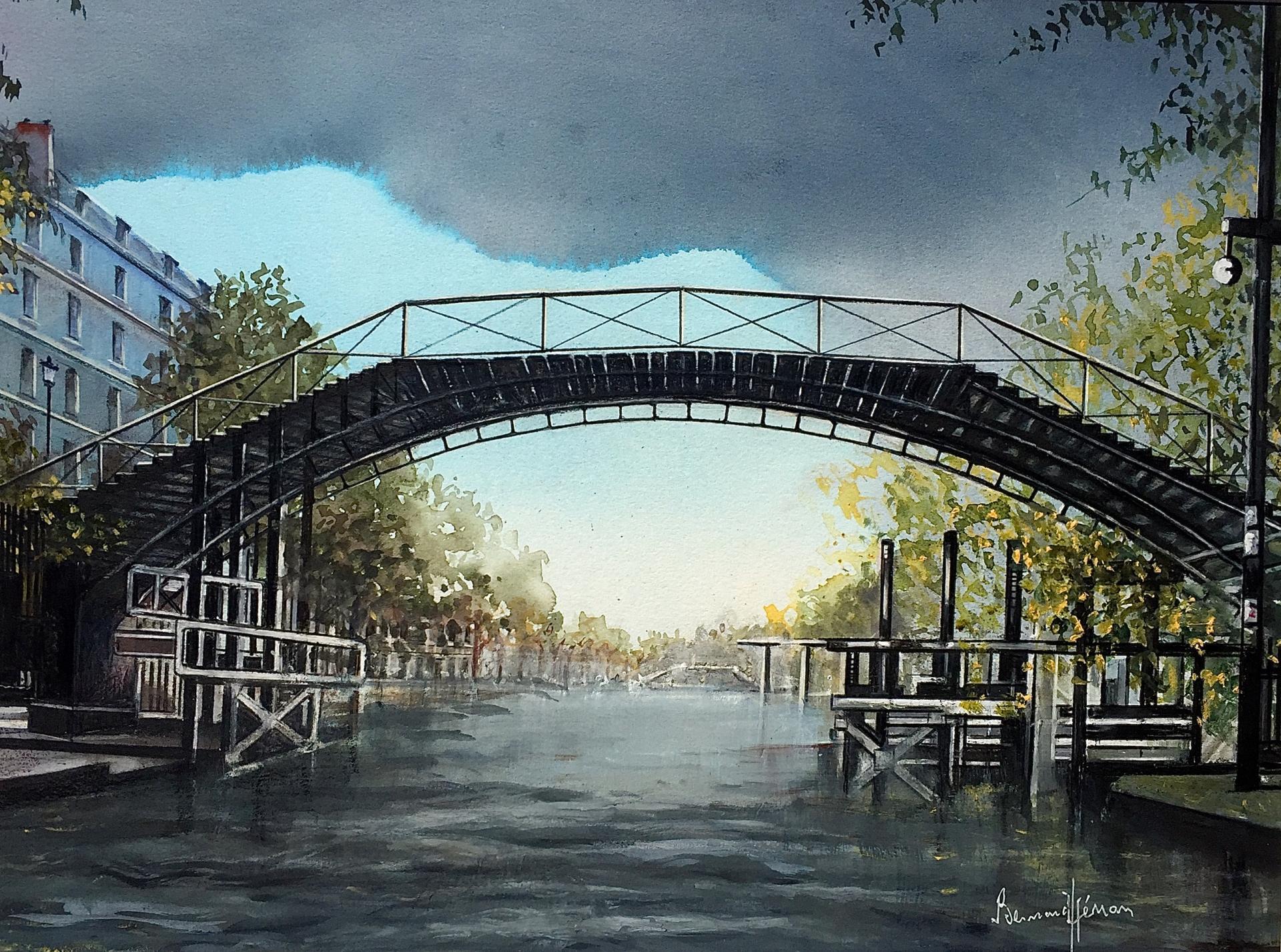 Paris - Risque d'averse sur le Canal St Martin