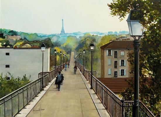 Saint Cloud - La passerelle de l'Avre