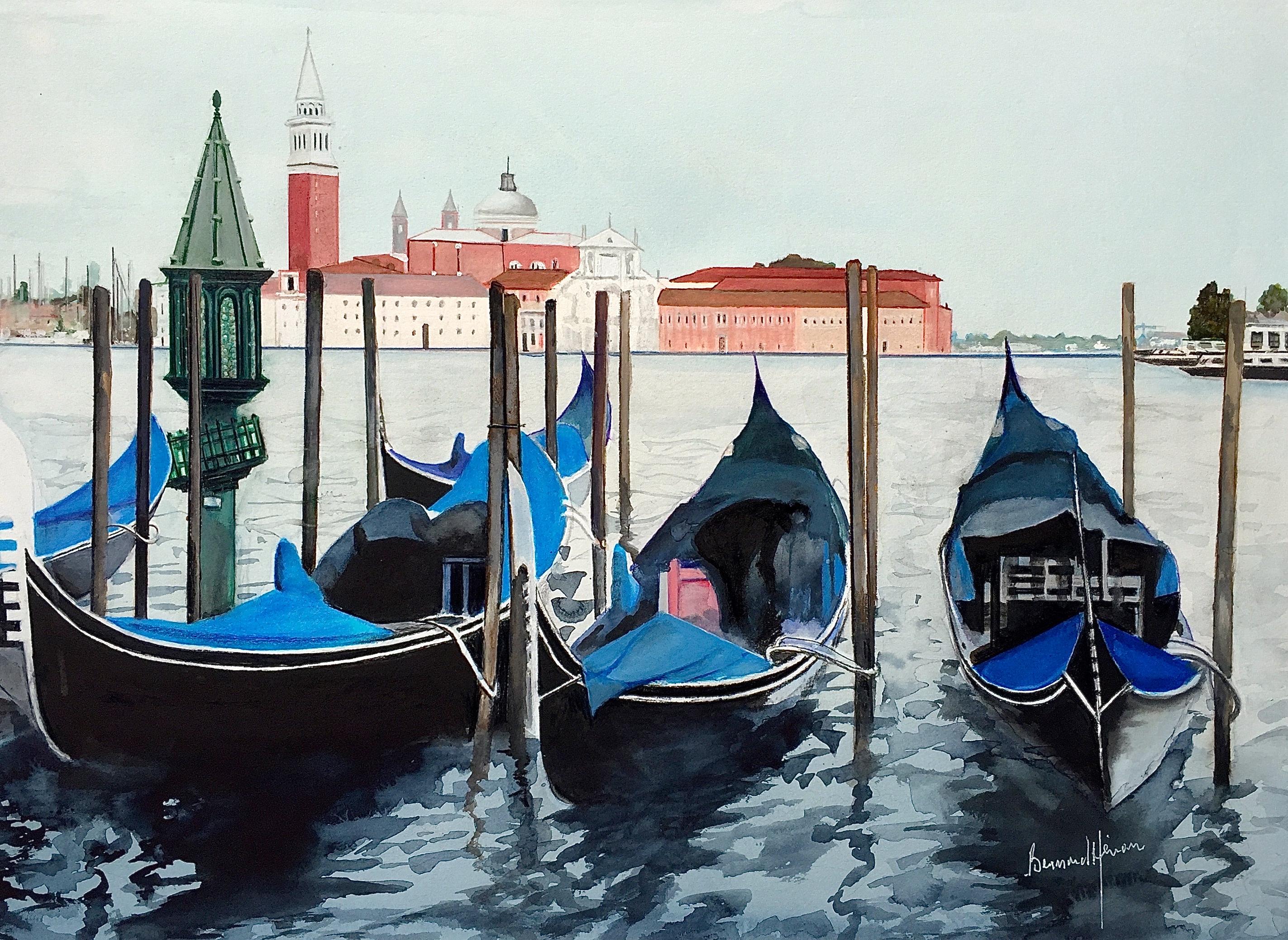 Venise - Les gondoles