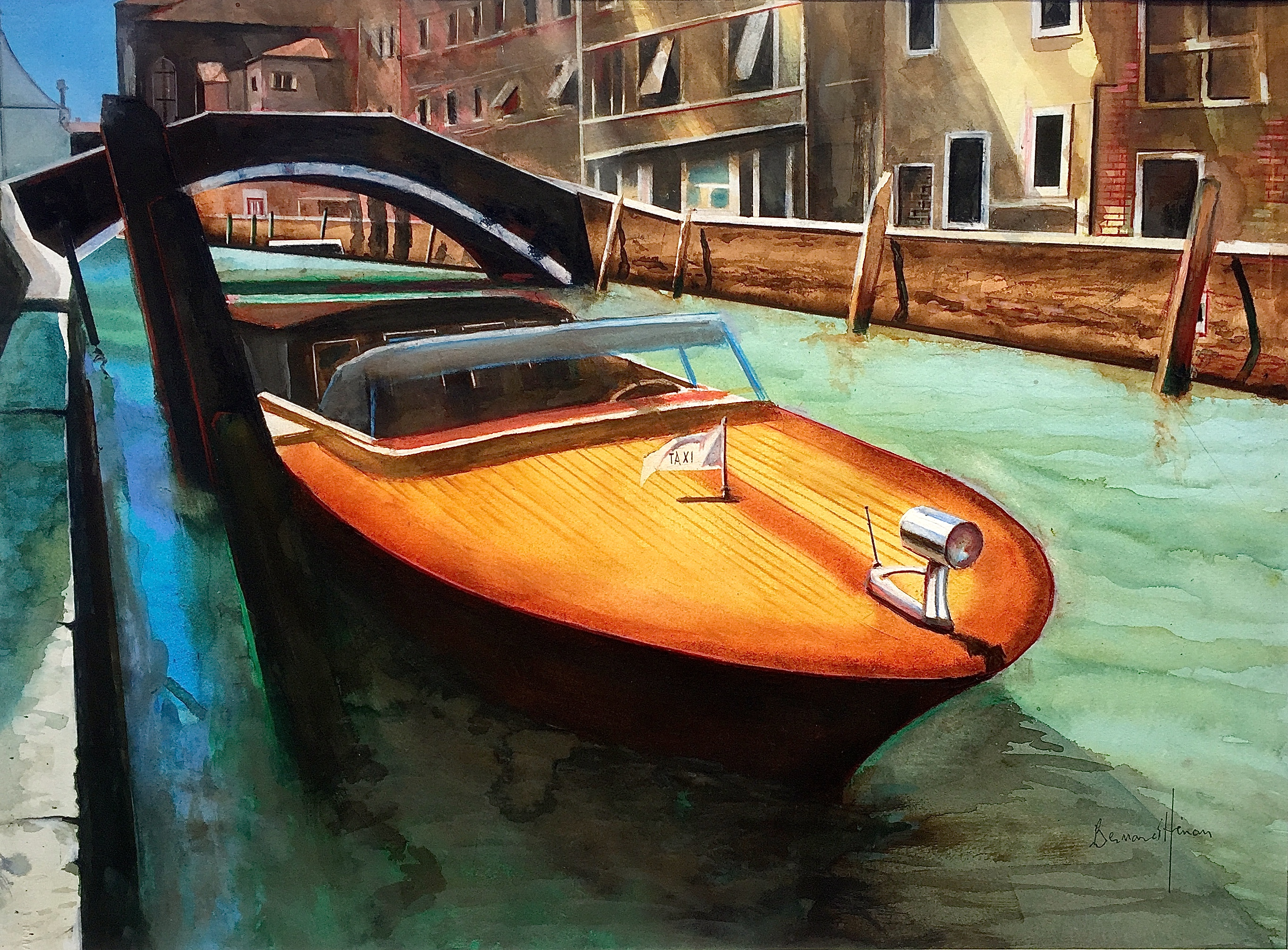 Venise: un Riva en bateau taxi
