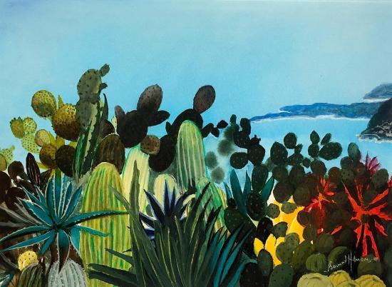 A Eze, il y a des cactus
