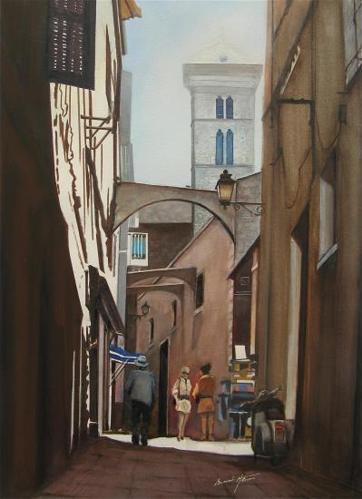Corse dans les ruelles de bonifacio