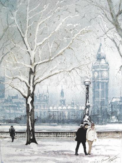 BIg Ben sous la neige