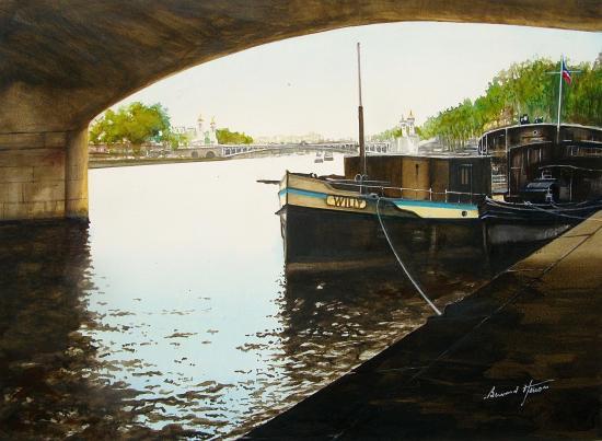 Paris - Sous le pont de la Concorde