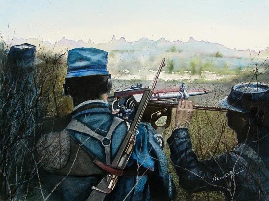 Aout 1914 - la mitrailleuse St Etienne