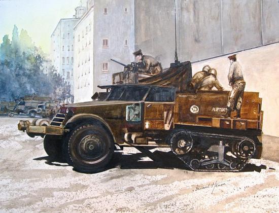 Algérie 1962 - Une Halftrack pour Bab El Oued