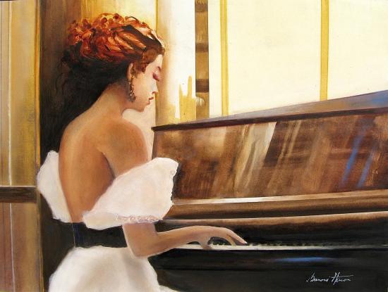Jeune filler au piano