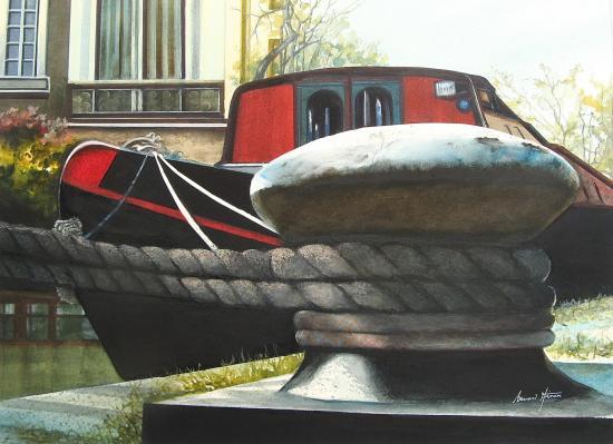 Londres - Amarrage sur Regents Canal