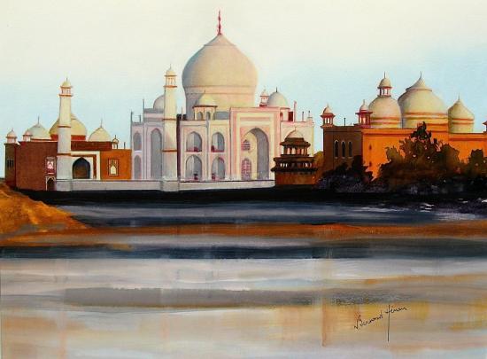 Inde - Lumière de l'aube sur le Taj Mahal