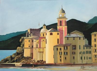 Italie la basilique de camogli