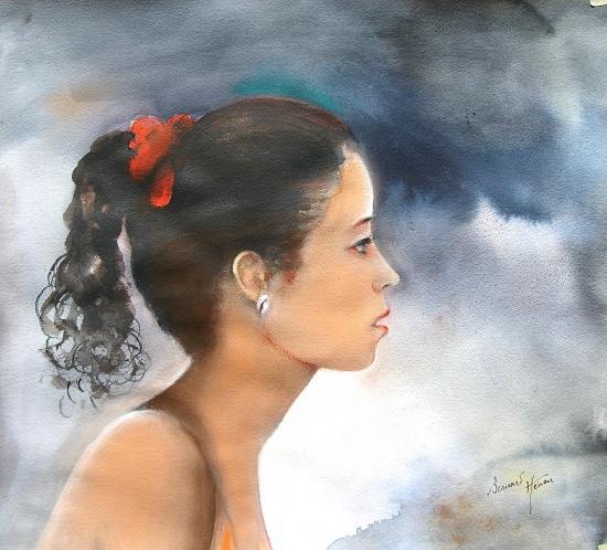 Jeune fille cubaine sur le Malécon