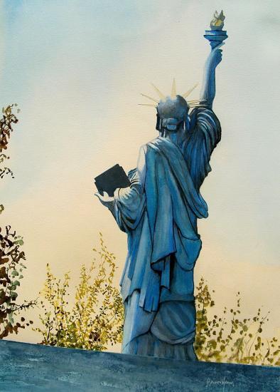 Paris la statue de la liberte du pont de grenelle 1