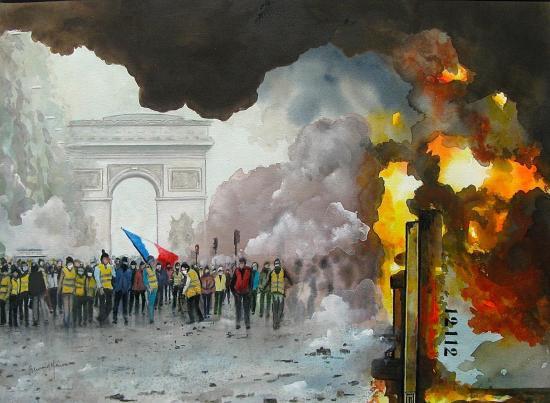 Paris le 24 novembre 2018 sur les Champs Elysées