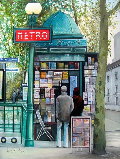 Paris le charme d antan de ses kiosques de presse 1