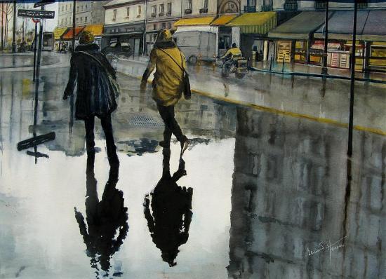 Paris reflets de trottoir