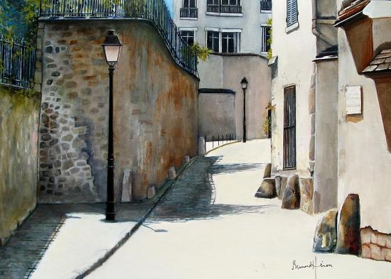 Paris rue Berton à Passy